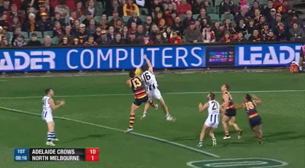 Watch Eddie Betts kicks an amazing goal in 2014 against the Roos GIF on Gfycat. Discover more AFL, Eddie Betts GIFs on Gfycat