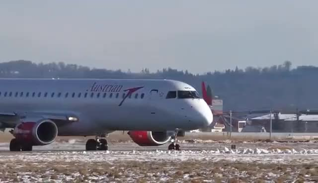 Watch and share Austrian Airlines Embraer 195 Close-up Takeoff @ Flughafen Graz | OE-LWG GIFs on Gfycat