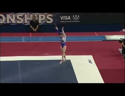 Watch and share Briley Cassanova GIFs and Gymnastics GIFs on Gfycat