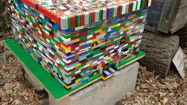 Watch and share A Fully Working Langstroth Beehive Built From Lego Bricks By Boaz Ben Zeev GIFs by GB on Gfycat