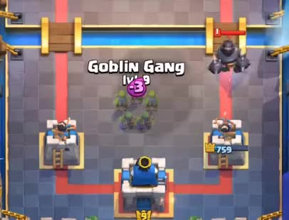 Watch and share Goblin Gang Vs Mega Knight GIFs by Clash World on Gfycat