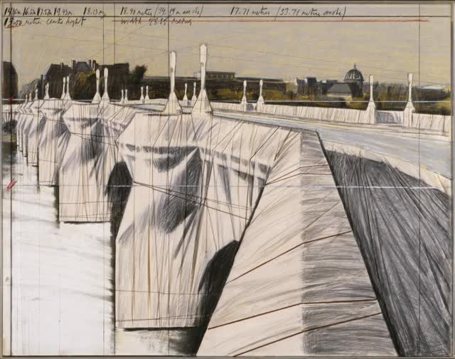 Watch and share The Pont Neuf, Wrapped By Christo And Jeanne-Claude | Paddle8 GIFs on Gfycat