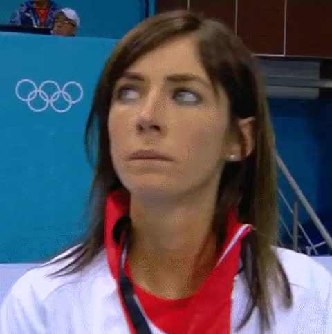Watch and share Eve Muirhead & Anna Sloan Of The UK Olympic Curling Team GIFs on Gfycat