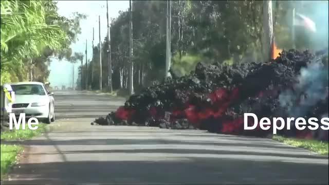 Watch and share Lava Eats Car | Natureisfuckinglit GIFs on Gfycat