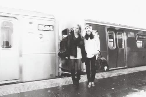 Watch and share Black And White GIFs and Best Friends GIFs on Gfycat