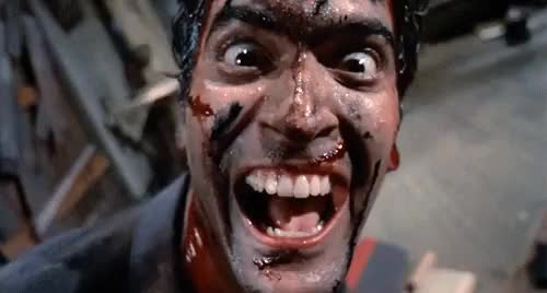 Watch and share EVIL DEAD THE TV SERIES? OH HELL YEAH!! (I Bet You Thought I Was Gonna Say 'Groovy'.) GIFs on Gfycat