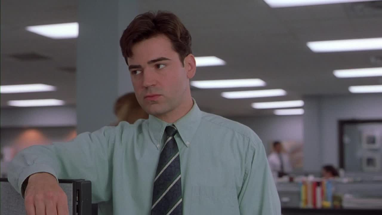 celebs, office space, ron livingston, whatever, Office Space - whatever gesture GIFs