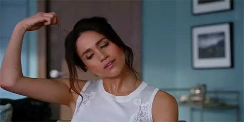 Watch and share Meghan Markle GIFs and Hair Flip GIFs on Gfycat