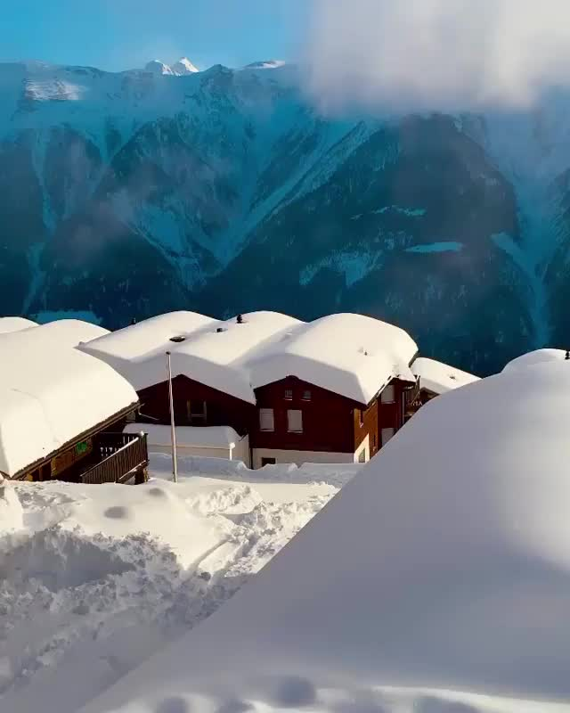 Watch and share Snow Covered Village In Switzerland GIFs by hjalmar111 on Gfycat