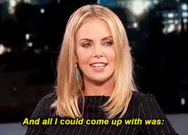 Watch Emily Blunt + original GIFs GIF on Gfycat. Discover more charlize theron, interview, jimmy kimmel, my gifs, obama, president obama, strip club GIFs on Gfycat