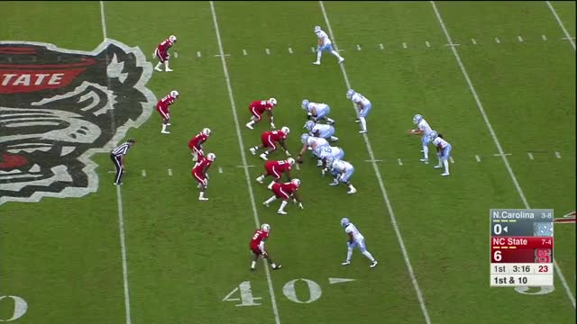 Watch Germaine Pratt through traffic tackle GIF by @hudso3 on Gfycat. Discover more CFB Game Tape, DeludedYinzer, Germaine Pratt, Germaine Pratt 2017, Germaine Pratt Highlights, Germaine Pratt NC State, Germaine Pratt Vs., Sports, football GIFs on Gfycat