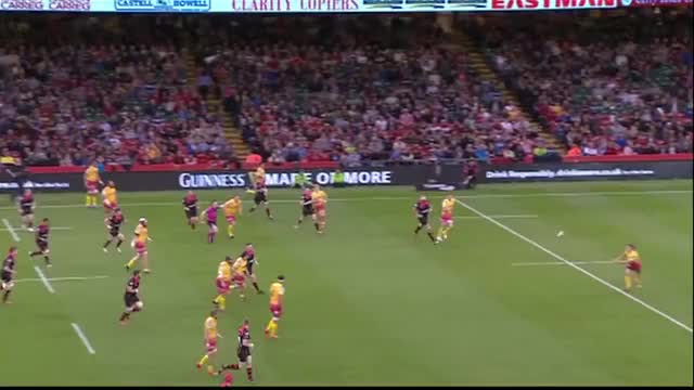 Great bit of play by Liam Williams for Scarlets try (reddit)