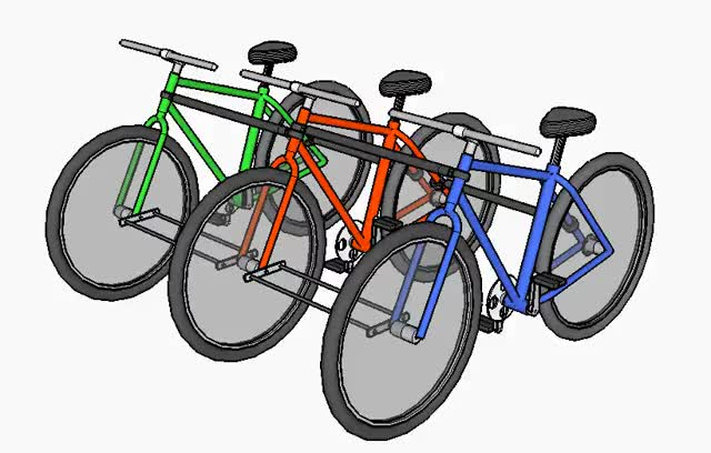 Side-by-side-by-side Tandem Bikes GIF | Find, Make & Share Gfycat GIFs