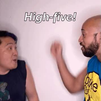 Watch and share High Five GIFs by mrbrown on Gfycat