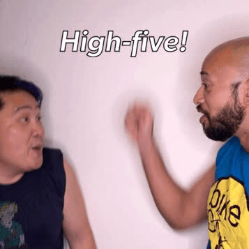KimHuat, Singapore, mrbrown, Kim Huat High Five GIFs