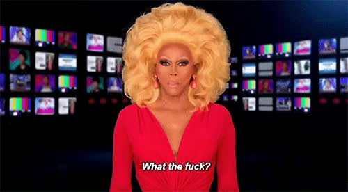 Watch and share Rupaul GIFs and Dafuck GIFs by Reactions on Gfycat