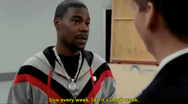 30 rock, shark week, tracy morgan, Live Every Week Like Its Shark Week GIFs