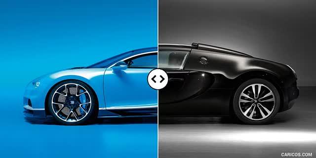 Watch and share Bugatti Chiron Vs. Veyron GS Vitesse : Side [GIF Animation] GIFs on Gfycat