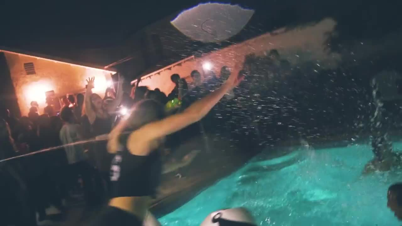 Krewella, Krewella - Team, Team, edm, music, pool antics GIFs