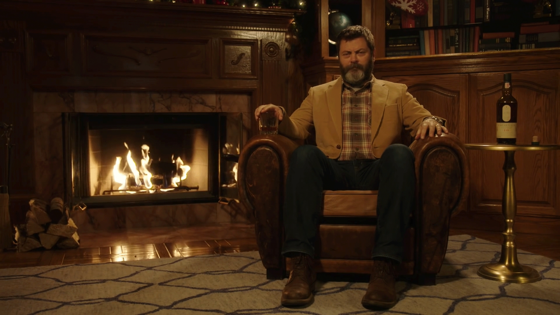PandR, pandr, Nick Offerman Drinking Whiskey GIFs