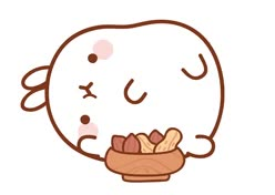 Watch and share Molang Pancak Donats GIFs on Gfycat