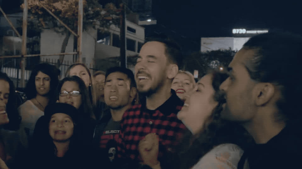 a, agree, awesome, crossing, great, haha, hang, happy, hehe, laugh, line, lol, loud, mike, out, party, shinoda, smile, yes, Mike Shinoda - Crossing a line GIFs