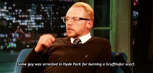 Watch this simon pegg GIF on Gfycat. Discover more gryffindor, harry potter, jimmy fallon, simon pegg GIFs on Gfycat