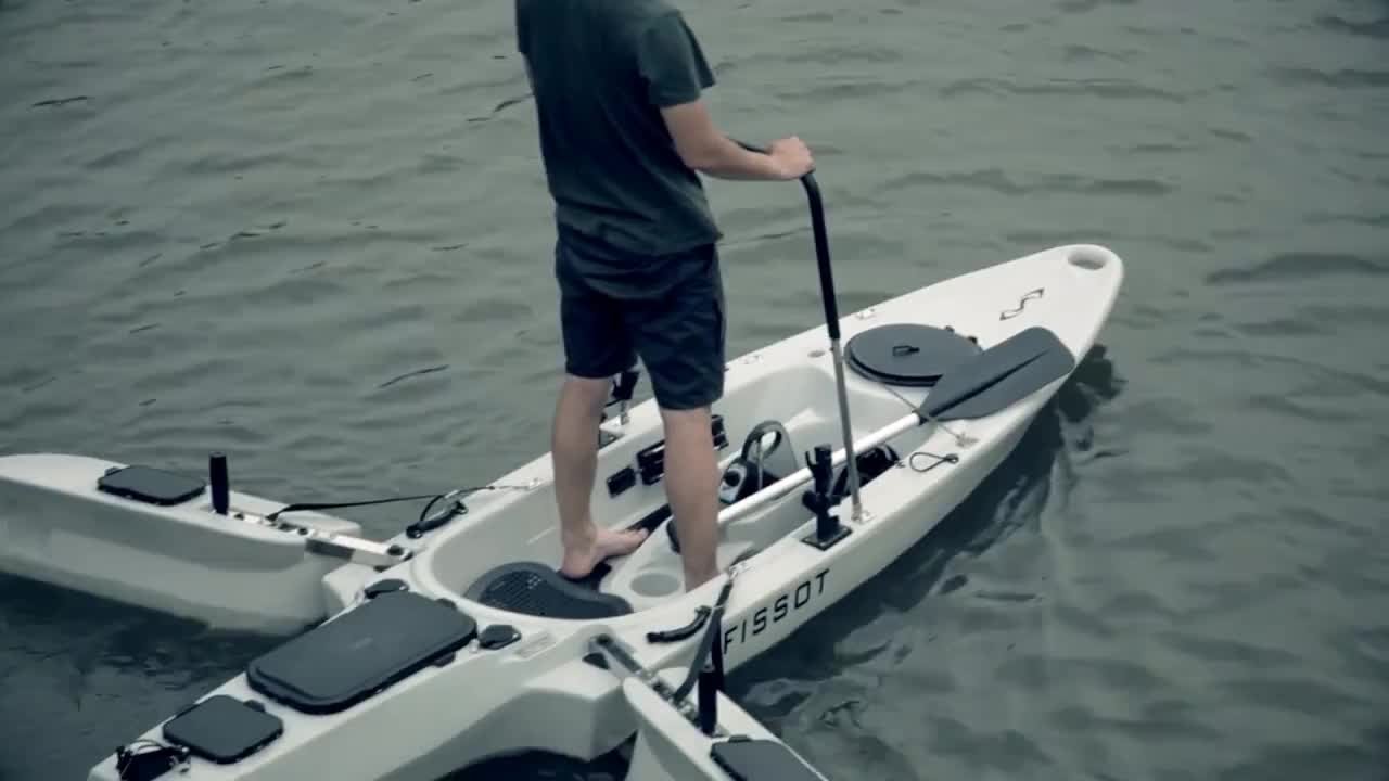 canoe, fishing, kayak, The adjustable handlebar helps with stability in the kayak GIFs