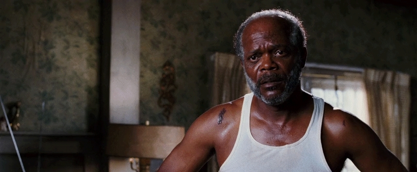 disagree, gfycatdepot, no, samuel l jackson, shake my head, smh, No... [Black Snake Moan 2006 Samuel L. Jackson Lazarus shake your head disagree nope] (reddit) GIFs