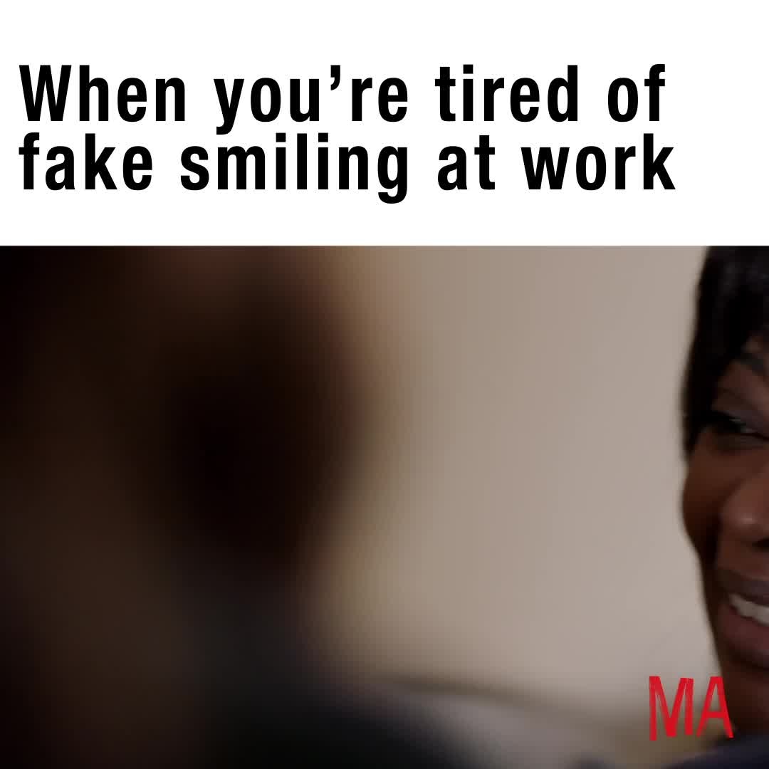 funny, ma, ma movie, meme, octavia spencer, smile, MA Fake Smiling Meme GIFs