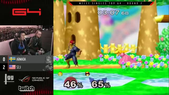 Watch Genesis 4 SSBM - [A] Armada (Peach) Vs. Tempo | S2J (Captain Falcon) Smash Melee Winners Ro16 GIF on Gfycat. Discover more smash bros. melee, smashbros, vgbootcamp GIFs on Gfycat