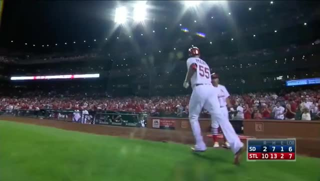 Watch Piscotty dugout celebration GIF by efitz11 (@efitz111) on Gfycat. Discover more cardinals GIFs on Gfycat