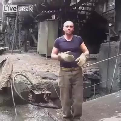 Watch and share Man Puts His Hand In Molten Metal GIFs by PM_ME_STEAM_K3YS on Gfycat