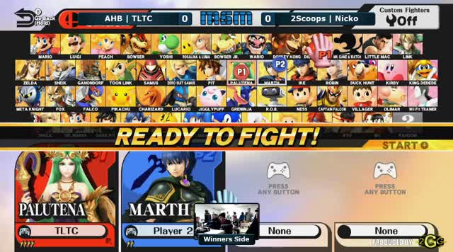 MSM 25 – AHB | TLTC (Palutena) Vs. 2Scoops | Nicko (Marth) Winners Side - Smash Wii U