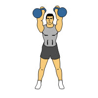 Two Arm Kettlebell Clean and Press GIFs