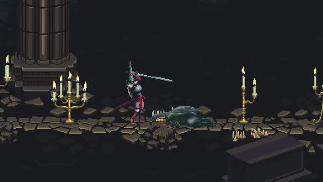 Watch Blasphemous - Now on Kickstarter! GIF on Gfycat. Discover more indie game, indie gaming, pixel art GIFs on Gfycat