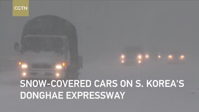 Watch Heavy snowfall hits northeastern South Korea GIF on Gfycat. Discover more cctvnews, cgtn, news GIFs on Gfycat