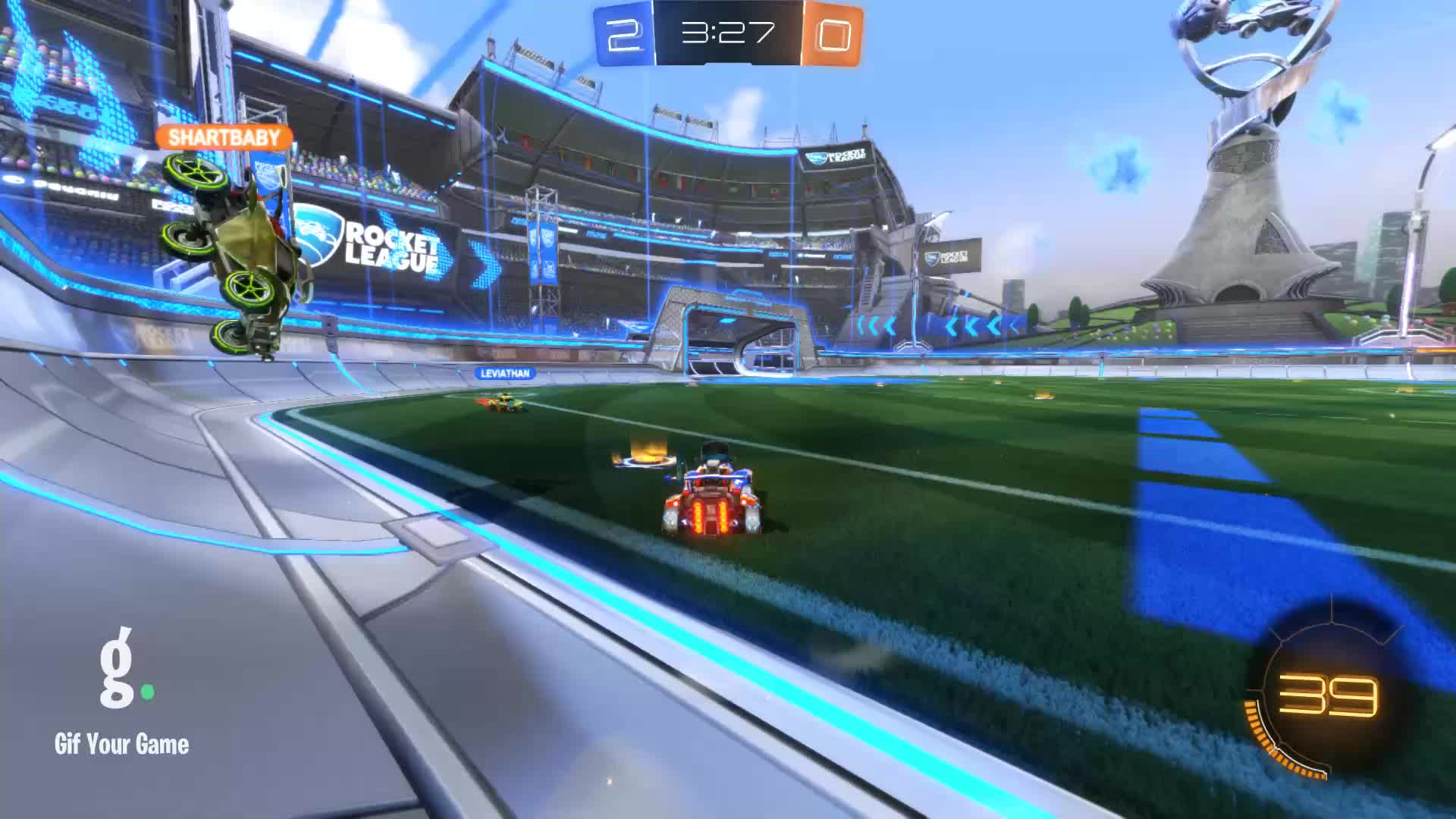 Duck Dodgers, Gif Your Game, GifYourGame, Goal, Rocket League, RocketLeague, Goal 3: Duck Dodgers GIFs