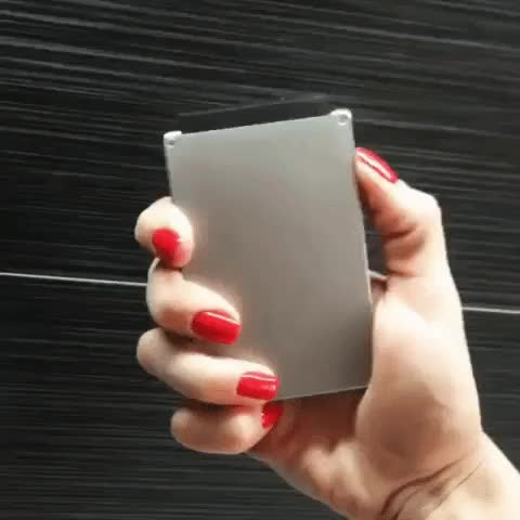 Watch sofia nails and cascade GIF by MANI WONDERS (@maniwodners) on Gfycat. Discover more Creditcardwallet, metal wallet, pocketdump, unisex wallet GIFs on Gfycat