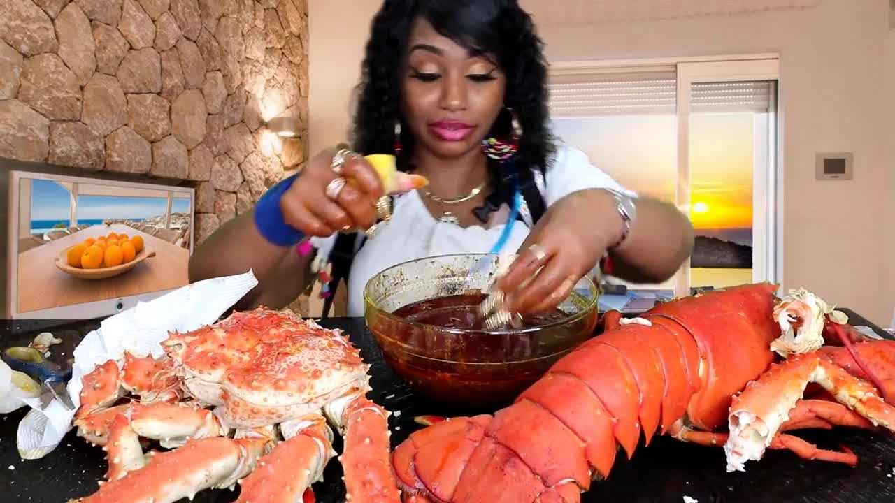 bloves2cook, bloves2cook-n-eat, bloveslife, bloveslife2, challenge, comedy, family, food, lobster, mukbang, vlogs, FATHERS DAY SEAFOOD SPECIAL   When Larry the Lobster Meets Curtis the Crab GIFs