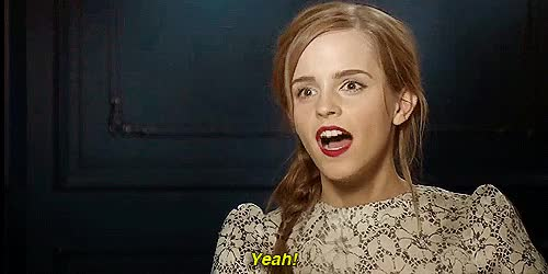 Watch and share Emma Watson GIFs and Yeah GIFs by Reactions on Gfycat
