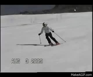 Watch and share Wicked Bad Ski Wreck At Mt Hood Summer Ski Camps 2009 GIFs on Gfycat