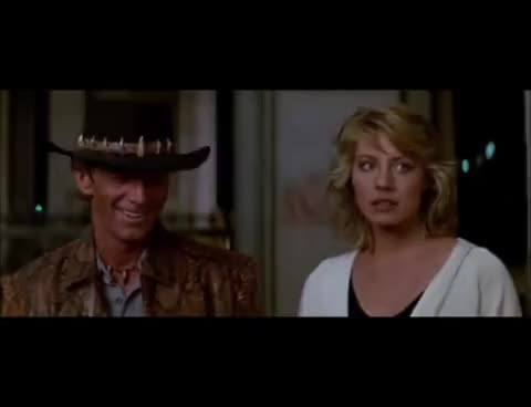 Watch and share Thats Not A Knife - Crocodile Dundee GIFs on Gfycat