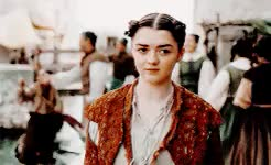 Watch and share Arya Stark GIFs on Gfycat