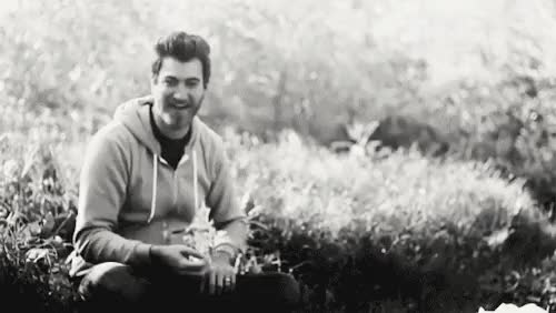 Watch GMM: My Hair Song - Behind the Scenes GIF on Gfycat. Discover more b&w, btw, gmm, gmm 46, good mythical morning, laughing, music video, my gif, rhett and link, rhett mclaughlin, rub some bacon on it GIFs on Gfycat