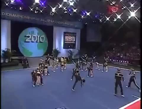 Watch Top Gun Cheerleader - Worlds 2010 GIF on Gfycat. Discover more Worlds, allstars, coed, finals, international GIFs on Gfycat