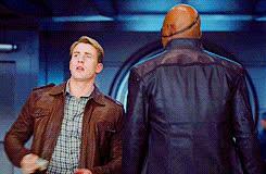nick fury, samuel l jackson, best The Avengers Captain America Chris Evans Nick Fury Samuel L. Jackson gif 6 GIFs
