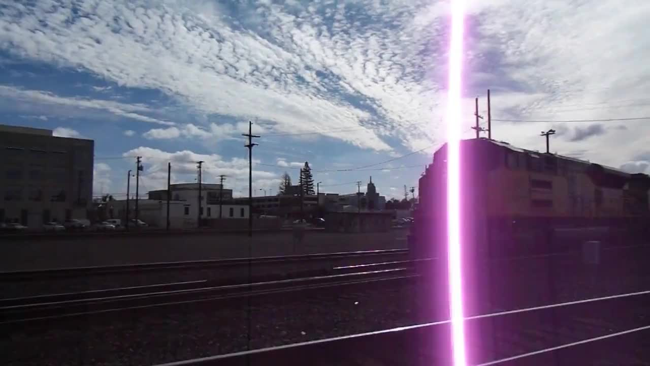 train, trains, Union Pacific #3014 on a power move in Roseville, CA (11/12/17) GIFs