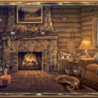 Watch and share Fireside Cabin GIFs on Gfycat