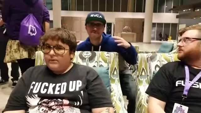 summit1g stream bombs Andy's IRL twitchcon stream ft. burgerplanet